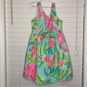Lilly Pulitzer Tropical Floral Sleeveless Dress
